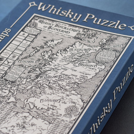 Manuscript Whisky Map Jigsaw Puzzle
