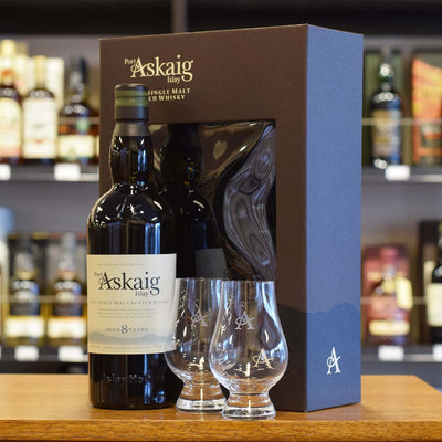 Port Askaig 8 years old Gift Pack 45.8%