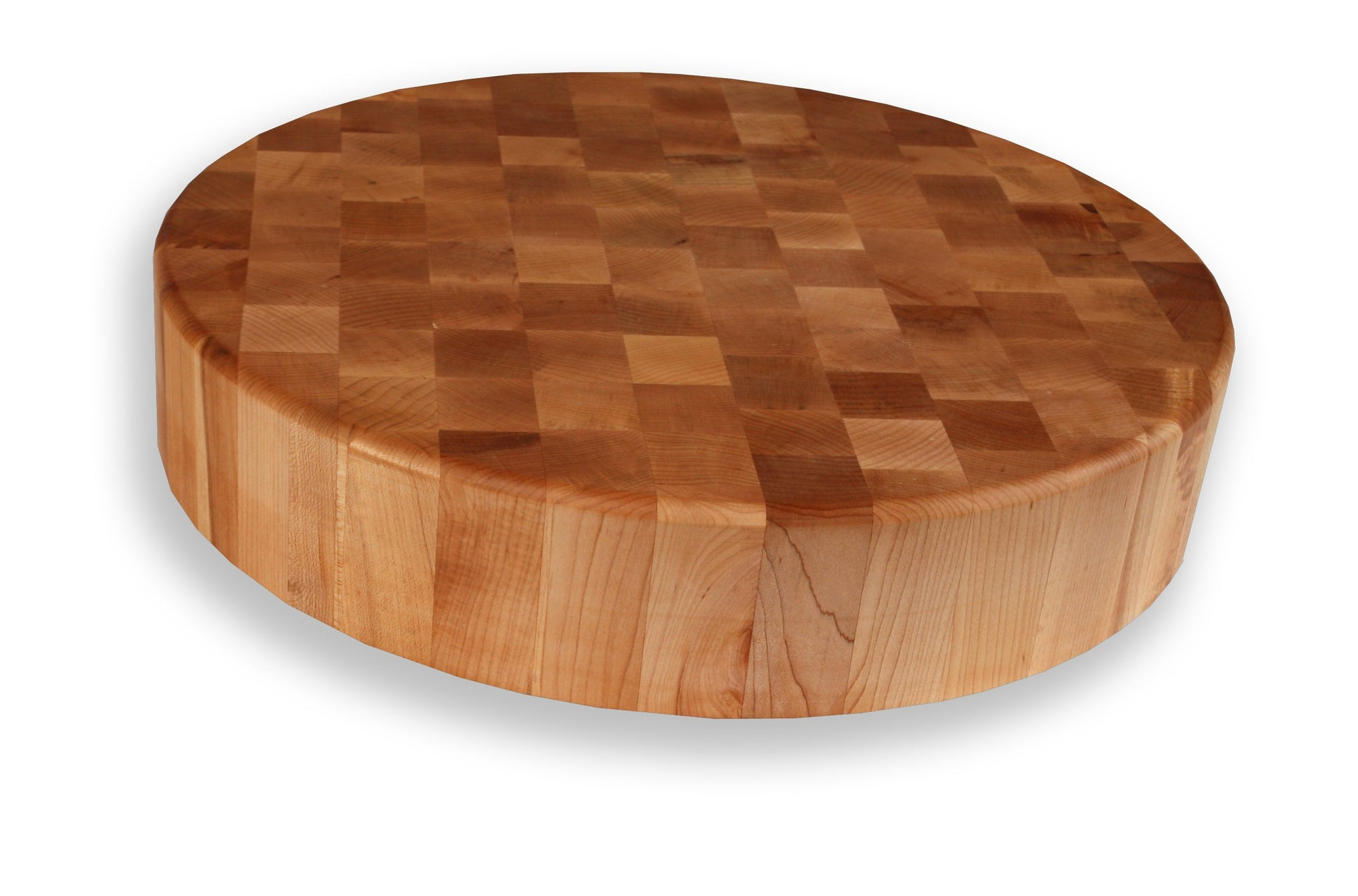 "Maple End Grain Round Chopping Blocks 3½"" Thick"