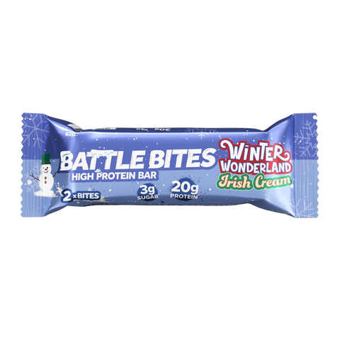 Battle Snacks Battle Bites 12x60g - Winter Wonderland Irish Cream - GymSupplements.co.uk