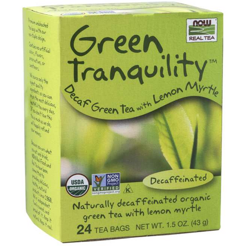 NOW Foods - Green Tranquility™ Tea, Organic - Decaffeinated - GymSupplements.co.uk