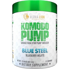 Alpha Lion Komodo Pump 367g - Blue Steel - GymSupplements.co.uk