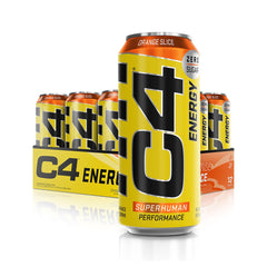 Cellucor C4 Energy Carbonated Orange Slice 12 x 500ml - Gymsupplements.co.uk