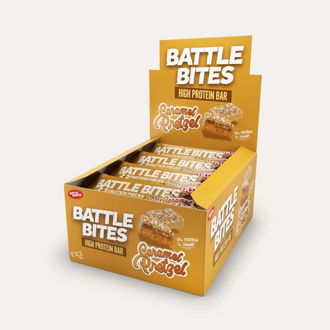 Battle Snacks Battle Bites 12x60g - Caramel Pretzel - GymSupplements.co.uk