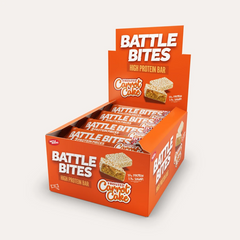 Battle Snacks Battle Bites 12x60g - Frosted Carrot Cake - GymSupplements.co.uk