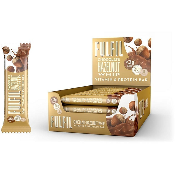 Fulfil Chocolate Hazelnut Whip Bar 55g - GymSupplements.co.uk