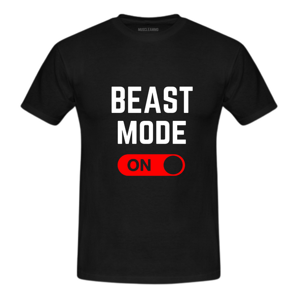 MuscleAmmo 'BMO' Print Muscle Fit T-Shirt - Black - GymSupplements.co.uk