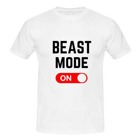 MuscleAmmo 'BMO' Print Muscle Fit T-Shirt - White - GymSupplements.co.uk