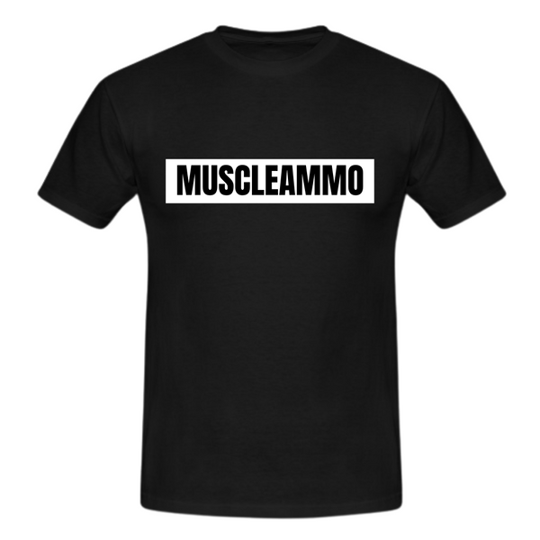 MuscleAmmo Muscle Fit T-Shirt - Black - GymSupplements.co.uk