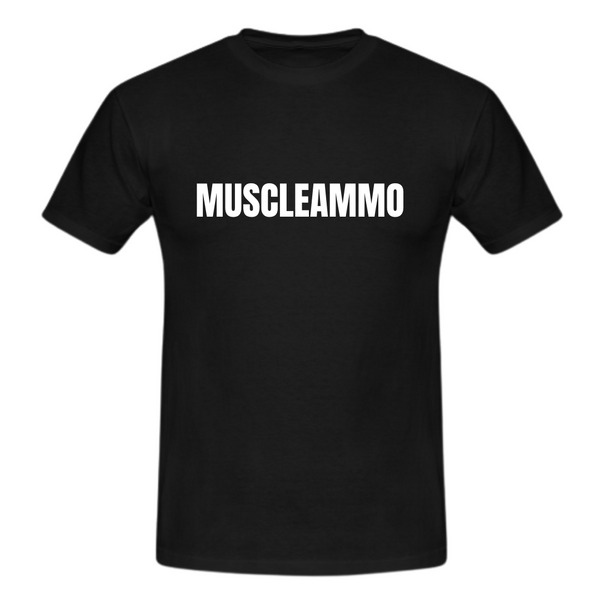MuscleAmmo Muscle Fit T-Shirt v2 - Black - GymSupplements.co.uk