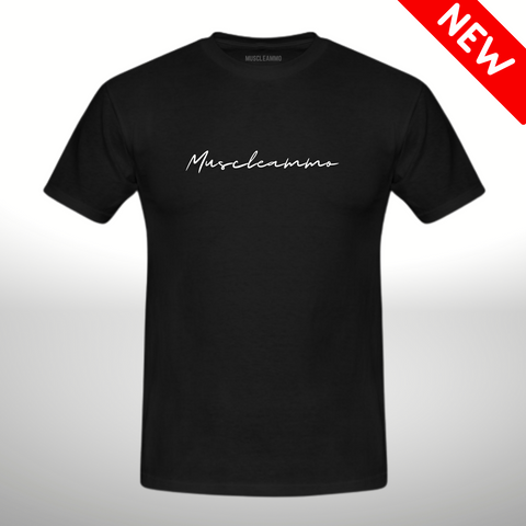 MuscleAmmo Print Muscle Fit T-Shirt - Black - GymSupplements.co.uk
