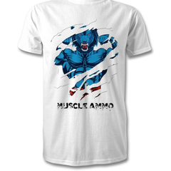 Muscle Ammo T-Shirt - White - Supplements-Direct.co.uk