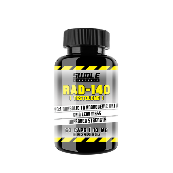SWOLE - RAD140 - TESTOLONE - (60 CAPS) - GymSupplements.co.uk