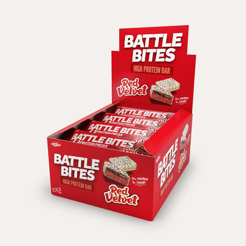 Battle Snacks Battle Bites 12x60g - Red Velvet - GymSupplements.co.uk
