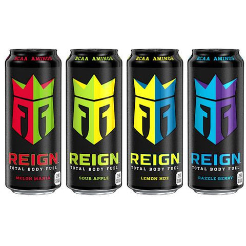 REIGN Total Body Fuel Energy Drink Box (12 Cans) - GymSupplements.co.uk