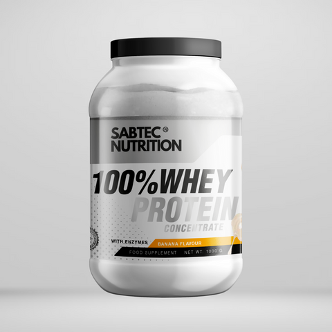 Sabtec Nutrition Whey Protein with Enzymes - Banana - Gymsupplements.co.uk