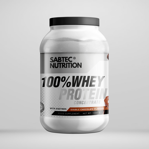 Sabtec Nutrition Whey Protein with Enzymes - Double Chocolate - Gymsupplements.co.uk