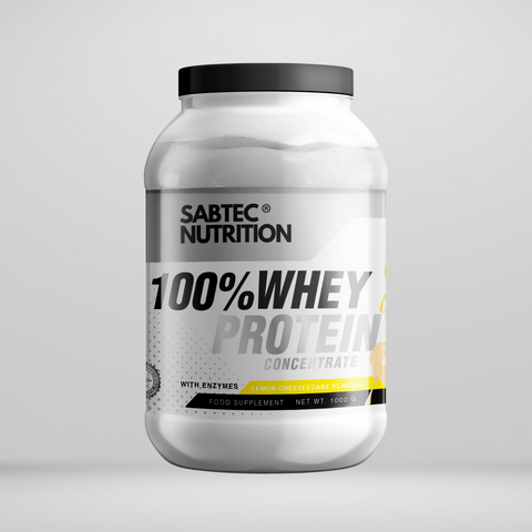 Sabtec Nutrition Whey Protein with Enzymes - Lemon Cheesecake - Gymsupplements.co.uk