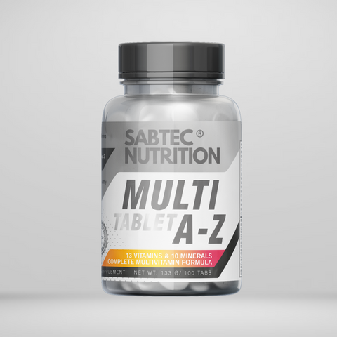 Sabtec Nutrition A-Z Multi-vitamin & Minerals - 100 Tablets - Gymsupplements.co.uk