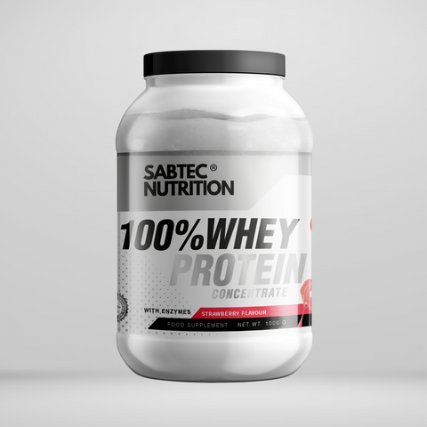 Sabtec Nutrition Whey Protein with Enzymes - Strawberry - Gymsupplements.co.uk
