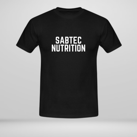 Sabtec Nutrition T-Shirt - Black - Gymsupplements.co.uk