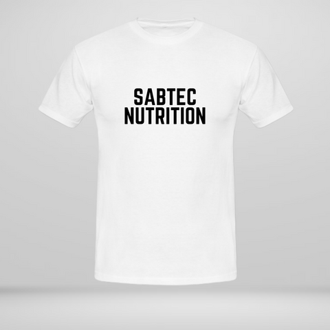 Sabtec Nutrition T-shirt - White - Gymsupplements.co.uk