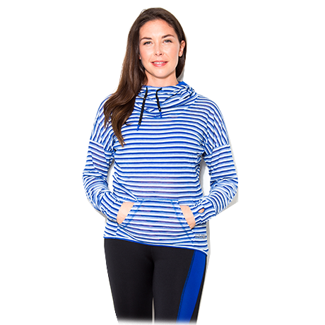 LADIES USN COWL NECK HOODY