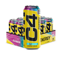 Cellucor C4 Energy Carbonated Cosmic Rainbow 12 x 500ml - Gymsupplements.co.uk