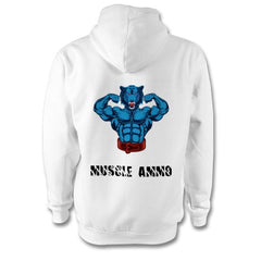 Muscle Ammo Classic Hoody - White - GymSupplements.co.uk