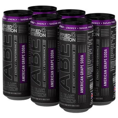 ABE - Energy + Performance 6x330ml Cans - American Grape Soda - GymSupplements.co.uk