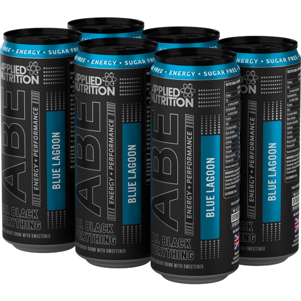 ABE - Energy + Performance 6x330ml Cans - Blue Lagoon - GymSupplements.co.uk