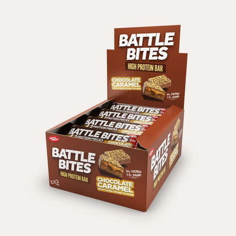 Battle Snacks Battle Bites 12x60g - Chocolate Caramel - GymSupplements.co.uk