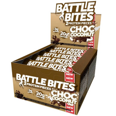 Battle Snacks Battle Bites 12x60g - Chocolate Coconut - GymSupplements.co.uk