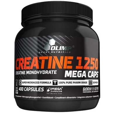 Olimp Creatine 1250 Mega Caps - (400 Capsules) - Supplements-Direct.co.uk