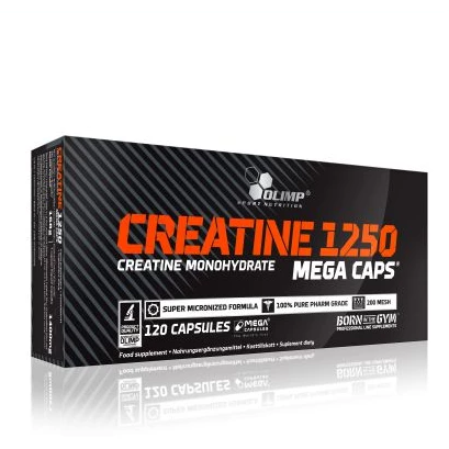 Creatine 1250 Mega Caps - 120 Capsules - GymSupplements.co.uk