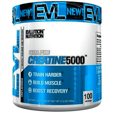 Evlution Nutrition Creatine 5000 - Unflavoured - 500g - Supplements-Direct.co.uk