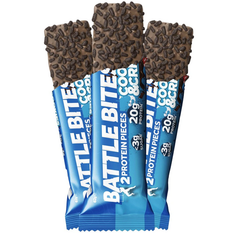 Battle Snacks Battle Bites 12x60g - Cookies & Cream - GymSupplements.co.uk
