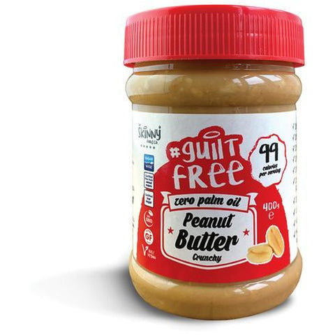 Skinny Peanut Butter 100% Pure - Crunchy - 400g - Supplements-Direct.co.uk