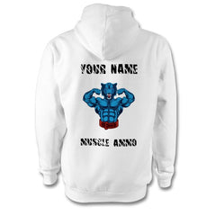 Muscle Ammo Classic Hoody - Customised - White - GymSupplements.co.uk