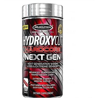 Muscletech - Hydroxycut Hardcore Next Gen - Fat Burner - 100 Caps - GymSupplements.co.uk