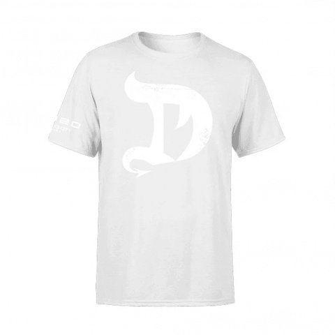 DRAGON PHARMA T-shirt White on White - Supplements-Direct.co.uk