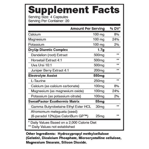 Dragon Pharma Dry Up - Diuretic & Thermogenic Matrix - Supplements-Direct.co.uk