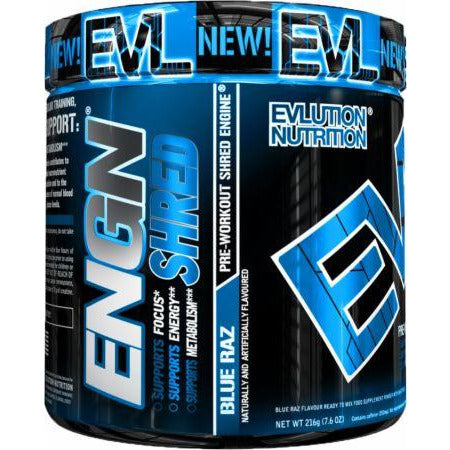 EVLution Nutrition ENGN Shred Pre Workout & Fat Burner 225g - Supplements-Direct.co.uk