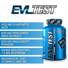 EVLution Nutrition - EVL Test - 120 tablets - Supplements-Direct.co.uk