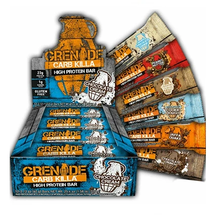 Grenade Carb Killa Low Sugar Protein Bar (12 x 60g Bars) 13 Flavours - Supplements-Direct.co.uk
