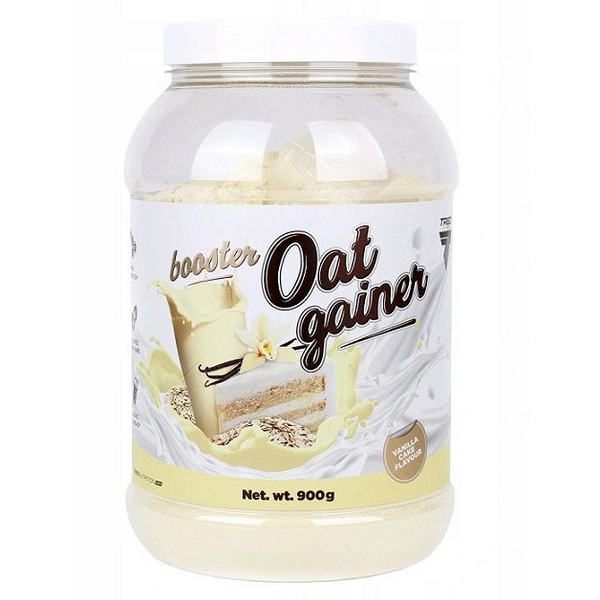 Trec Nutrition Booster Oat Gainer - Vanilla Cake - 900 grams - GymSupplements.co.uk