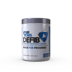 HR LABS DEFIB PREWORKOUT – 460G - ICED BLUE SLUSH - GymSupplements.co.uk