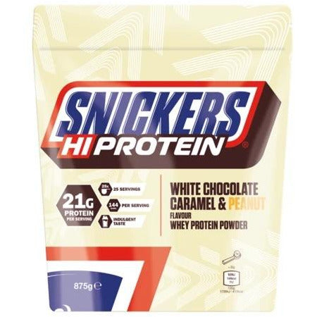 *NEW* Snickers White Chocolate Caramel & Peanut Protein 875G - GymSupplements.co.uk