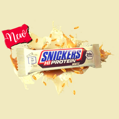 SNICKERS HI-PROTEIN WHITE CHOCOLATE BARS (12 BARS) - GymSupplements.co.uk
