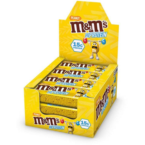 M&M'S CHOCOLATE PROTEIN BAR BOX - PEANUT (12 BARS) - Supplements-Direct.co.uk